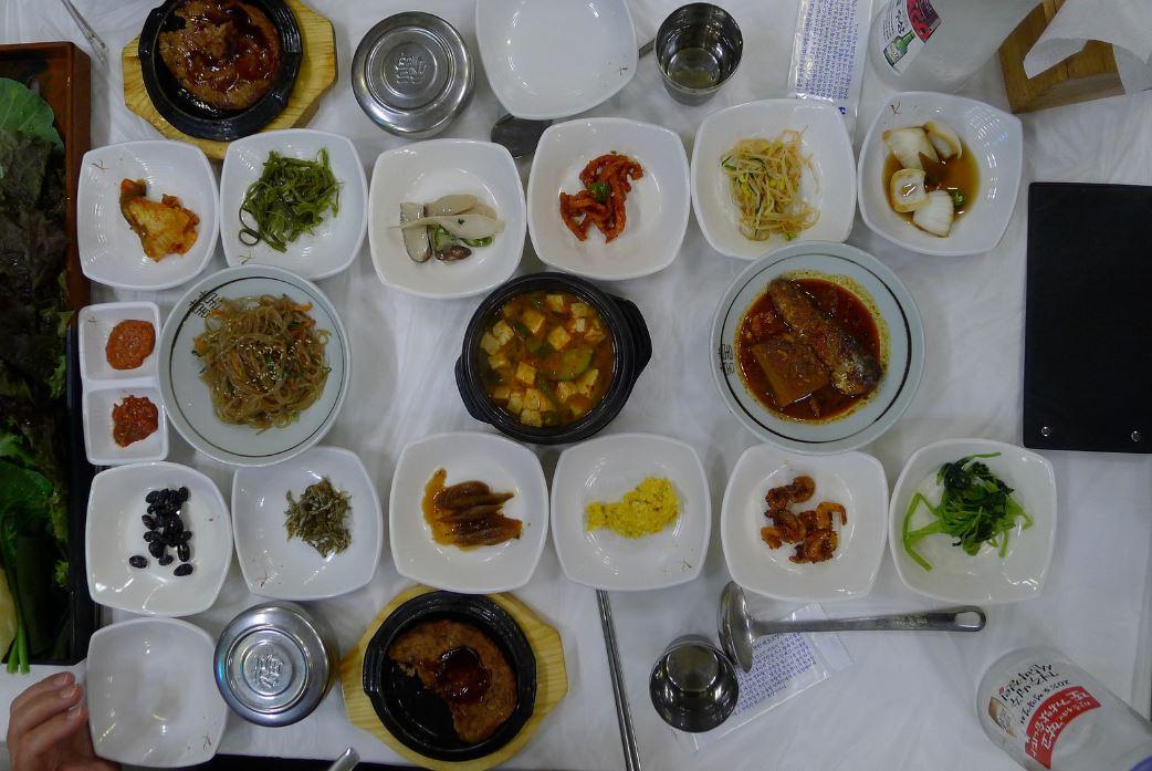 Dîner coréen à Gyeongju
