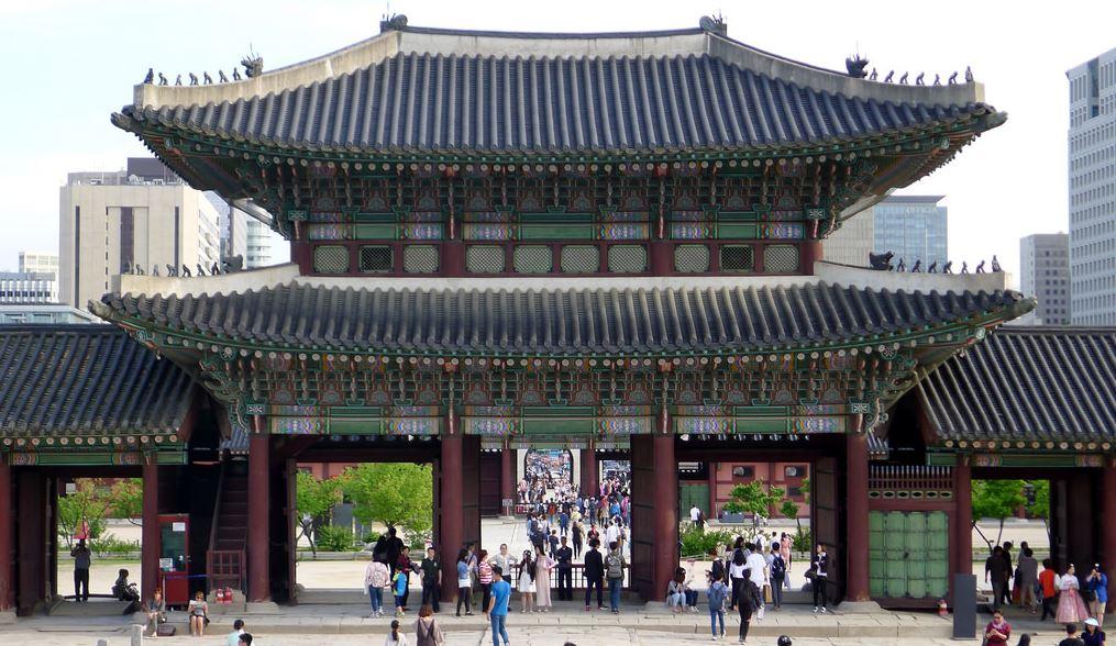 Portique du palais Gyeongbok