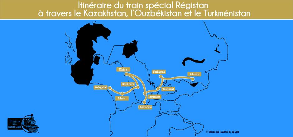 Itinéraire du train Régistan